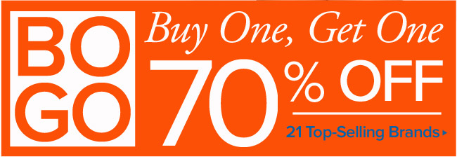 Buy One, Get One 70% Off - 21 Top-Selling Brands