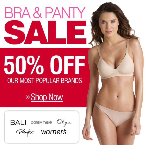 50% off Bra & Panty Sale - Save Big -- Shop Now