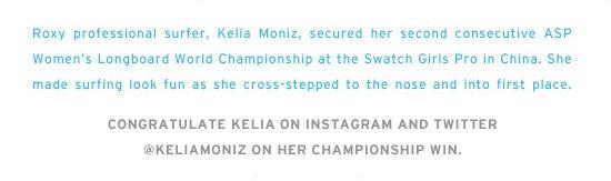 Congratulate Kelia on Instagram and Twitter @keliamoniz on her championship win.
