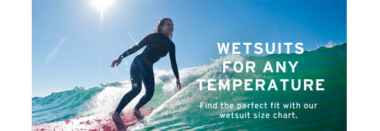 Wetsuits for any temperature