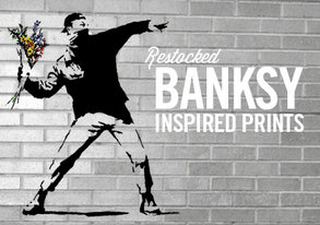 Shop RESTOCKED: Banksy-Inspired Prints