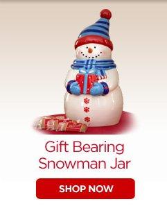 Gift Bearing Snowman Jar