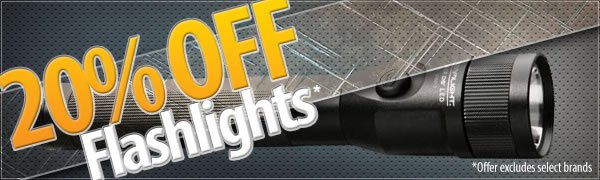 20 percent Off Flashlights