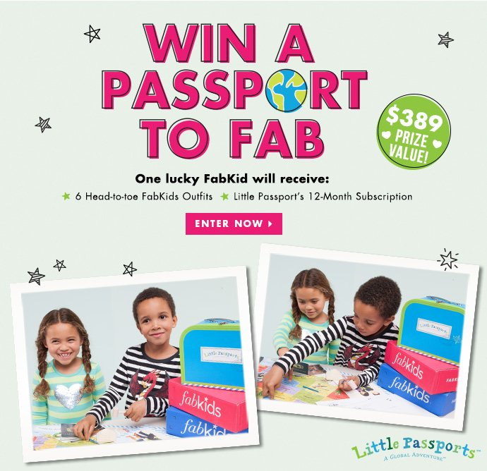 Win A Passport To Fab! Enter Today!