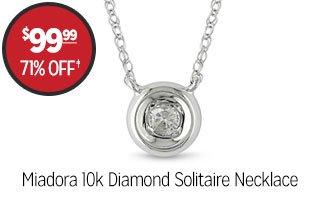 Miadora 10k Diamond Solitaire Necklace - $99.99 - 71% off‡