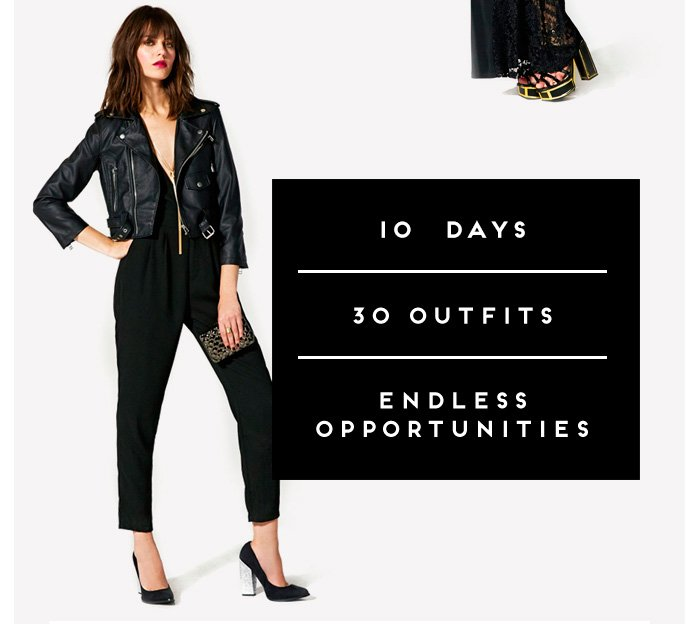 A sultry silhouette, and one helluva jammin' jumpsuit