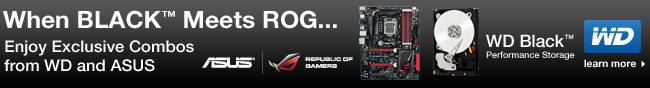 When Black Meets ROG... Enjoy Exclusive Combos From WD And ASUS.