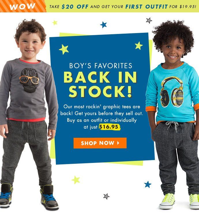 Boy's Favorites Back In Stock!