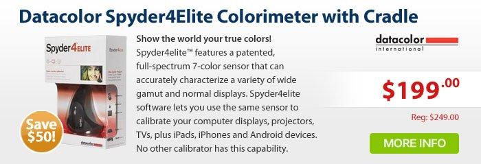 Adorama - Datacolor Spyder4Elite Colorimeter with Desktop Cradle