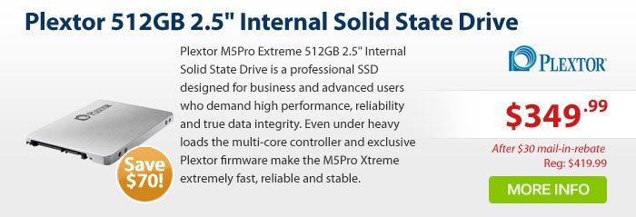 Adorama - Plextor M5Pro Extreme 512GB 2.5 Internal Solid State Drive