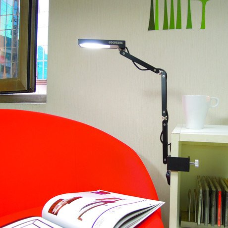 Toca Clamp Lamp // Black Warm White LED