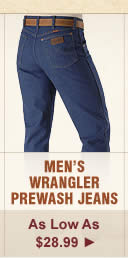 Mens Wrangler Prewash Jeans on Sale