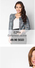 Ezra collarless jacket