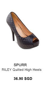 SPURR RILEY Quilted High Heels