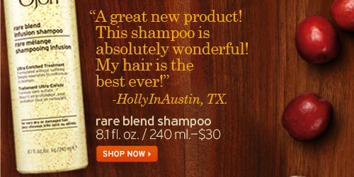 A  gret new product This shampoo is absolutely wonderful My hair is the  best ever HollyInAustin TX rare blend shampoo SHOP NOW
