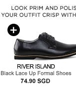 River Island Black Lace Up Shoes