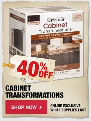 40% OFF Cabinet Transformations