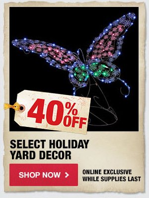 40% OFF Select Holiday Yard Decor