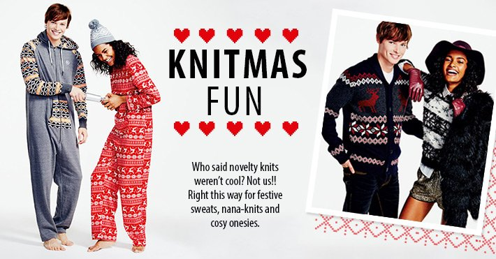 Shop Knits and Onesies- shop now