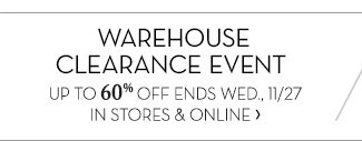 WAREHOUSE CLEARANCE EVENT »