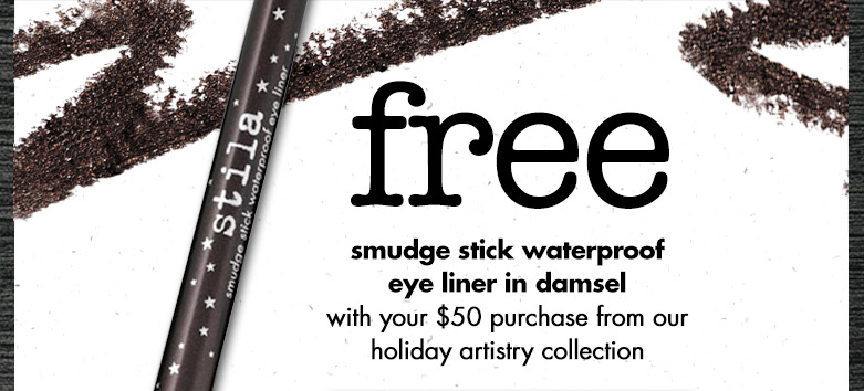 free smudge stick waterproof eye liner in damsel! use code: SMUDGESTICK