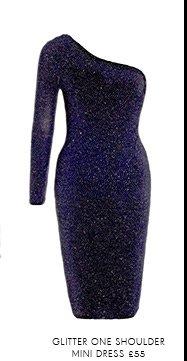 Glitter One Shoulder Mini Dress