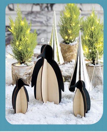 6. wood penguins 5.56-11.96 reg  6.95-14.95