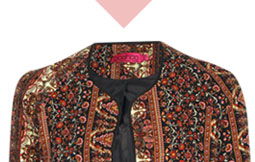 Carmen Folk Print Tapestry Aladdin Jacket
