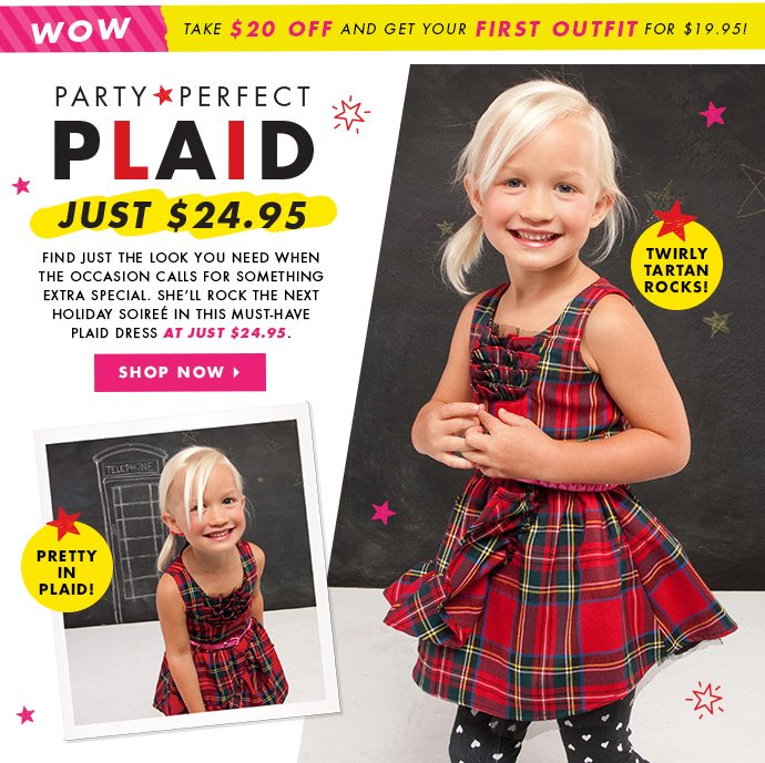Party Perfect Plaid - Just $24.95!