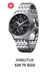 ARBUTUS Stainless Steel Link Automatic Watch