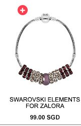 SWAROVSKI ELEMENTS FOR ZALORA Elements Mysterious Red Bracelet