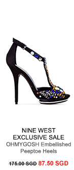 NINE WEST EXCLUSIVE SALE OHMYGOSH Embellished Peeptoe Heels