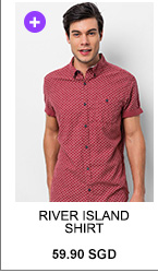 RIVER ISLAND RED DITSY PRINT SHORT SLEEVE SHIRT