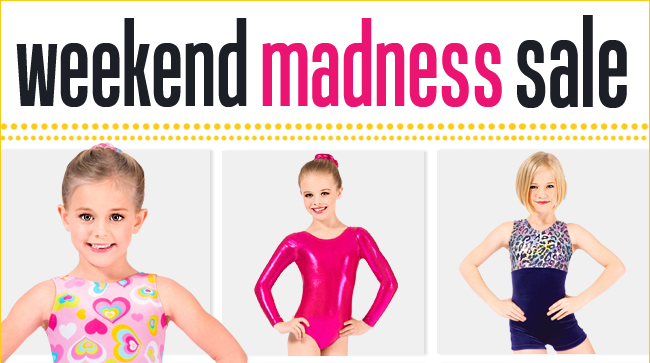Save up to 20% off gymnastics this weekend.