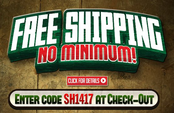 Sportsman's Guide's **No Minimum** Free Shipping On Your Merchandise Order! Please Enter Coupon Code SH1417 at Checkout. Offer ends Monday, 12/02/2013.