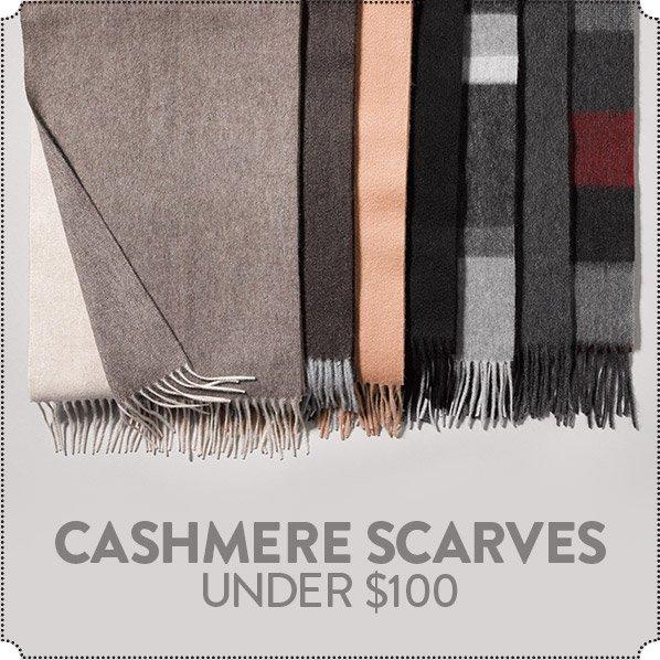 CASHMERE SCARVES UNDER $100