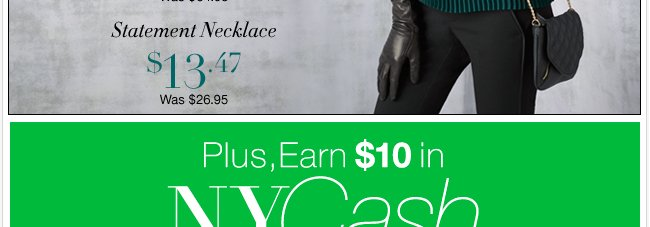 Earn $10 in NYCash for every $50 you spend!