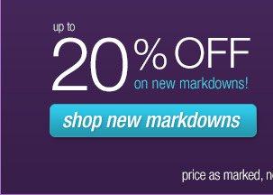 Shop new markdowns