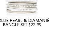 HOLLIE PEARL & DIAMANTE BANGLE SET