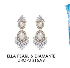 ELLA PEARL & DIAMANTE DROPS