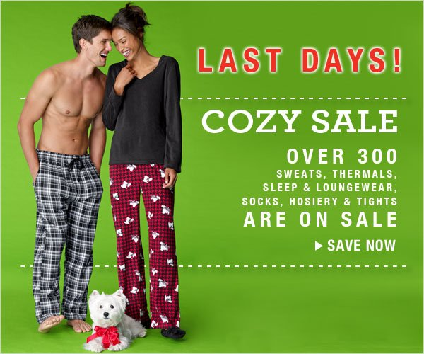 Last Days: Cozy Sale