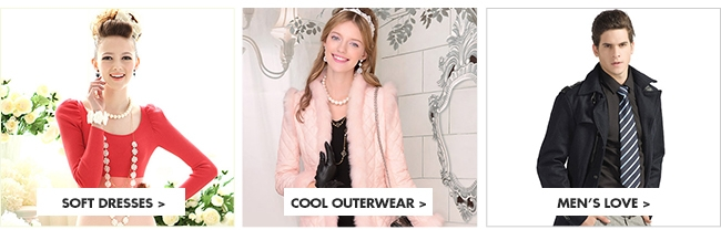 Soft Dresses, cool outerwear and men's clothing