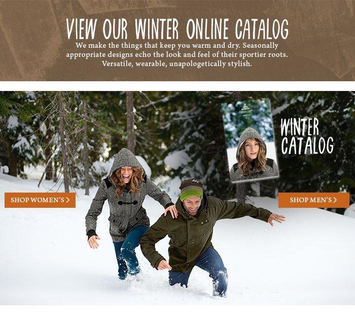 Shop Our Winter Catalog