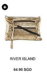 River Island Gold Metallic Bag