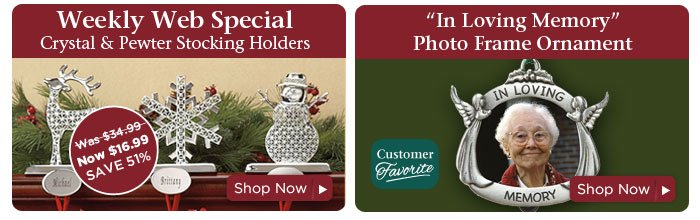 Weekly Web Special & Photo Frame Ornament