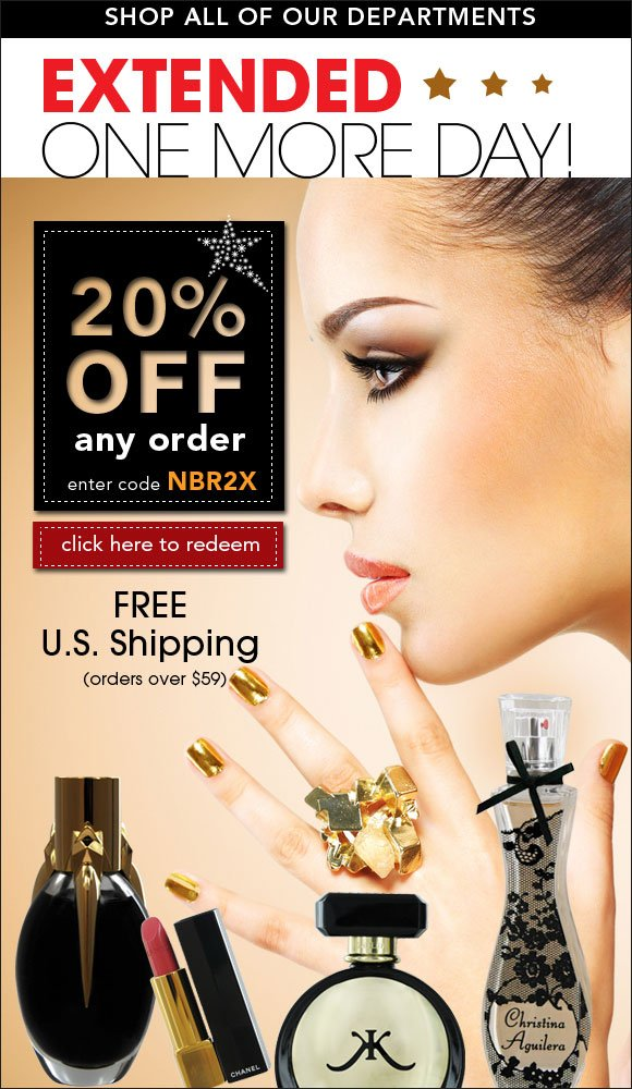 Hurry1 day left - Extra 15% OFF all beauty