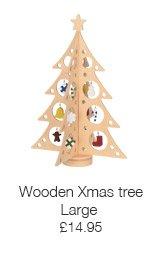Large wooden Xmas tree