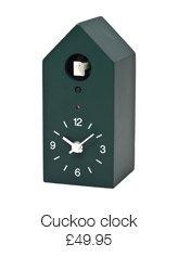 Green cuckoo clock