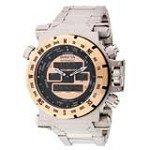 Invicta 13075 Men's Coalition Forces Rose Gold Dial Steel Bracelet Alarm Watch