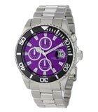 Invicta 1006 Men's Pro Diver Stainless Steel Purple Dial Chronograph Quartz Watch